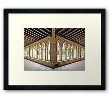 St Emilion Collegiate Church Cloister Framed Print