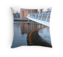 Millenium Bridge Throw Pillow