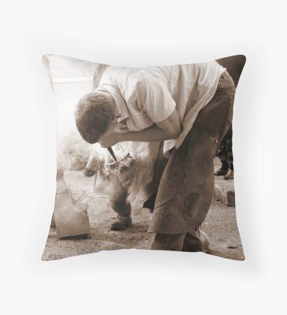 Farrier Throw Pillow