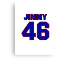 National baseball player Jimmy Barthmaier jersey 46 Canvas Print
