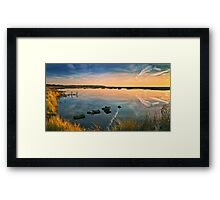 Reflections of a beautiful morning Framed Print