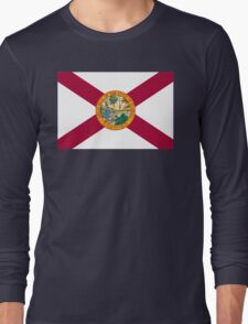 Florida State Flag South Miami Orlando Tampa Long Sleeve T-Shirt