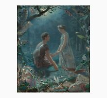 Hermia and Lysander from A Midsummer Night's Dream, painted by John Simmons in 1870 Unisex T-Shirt