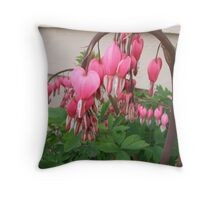 droopy flowers Throw Pillow