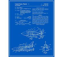 Space Shuttle Patent - Blueprint Photographic Print