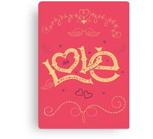 Love Hand-Lettering Canvas Print