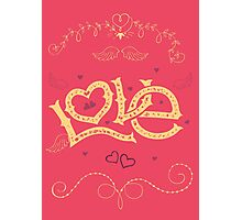 Love Hand-Lettering Photographic Print