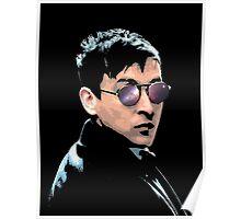 Hipster Oswald (Coloured Black) Poster