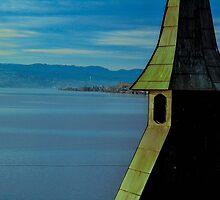 Church on Lake Zurich by Darryl Brewer