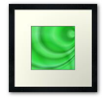 Green abstract curves Framed Print