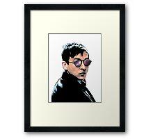 Hipster Oswald (Coloured White) Framed Print