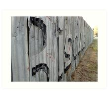 Echuca Sunshine #3 Fence Art Print