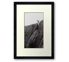 Clay person,on high Framed Print