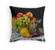 """""""Bowl of Fruit"""" Throw Pillow"""