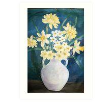 Evelyn's Daffodils Art Print