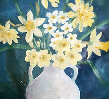 Evelyn's Daffodils by suzannem73