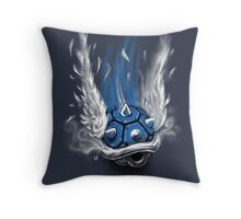 Blue Shell Attack Throw Pillow