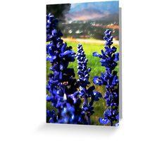 Blue Stalks Greeting Card