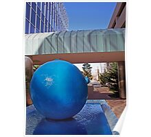 """Blue Sphere"" Poster"