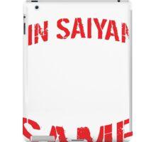 Train In Saiyan T-shirt iPad Case/Skin