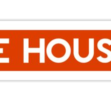 BE HOUSE (RED) Sticker