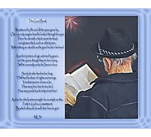 The Good Book - Collaboration Photographic Print