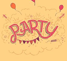 Party Hand-Lettering by PaulMalyugin