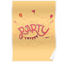 Party Hand-Lettering Poster