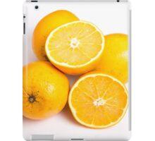 Whole and Half Oranges on White iPad Case/Skin