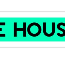 BE HOUSE (CYAN) Sticker