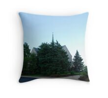 Ghostly Chapel Throw Pillow