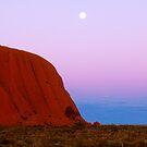 Earth Shadow at Uluru. by Ern Mainka