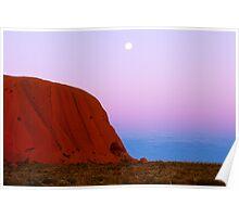 Earth Shadow at Uluru. Poster