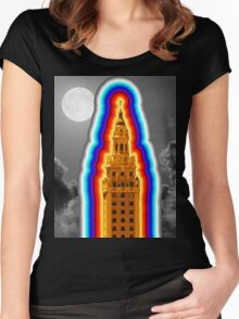Miami Freedom Tower Cuban Liberty Downtown Brickell Women's Fitted Scoop T-Shirt
