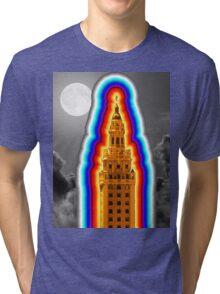 Miami Freedom Tower Cuban Liberty Downtown Brickell Tri-blend T-Shirt