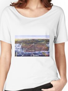 Brooklyn, NY Birds-Eye View - 1879 Women's Relaxed Fit T-Shirt