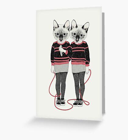 Siamese Twins Greeting Card
