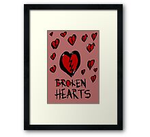 Broken hearts Framed Print
