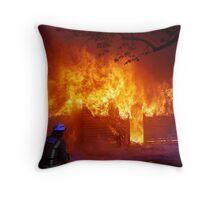 Burning! Throw Pillow