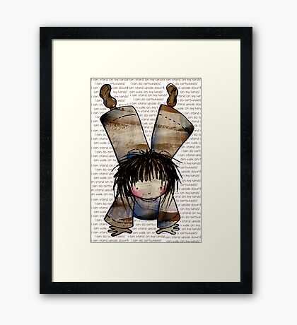 I Can Stand on My Hands Framed Print