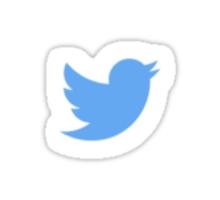 Twitter Simplistic Sticker