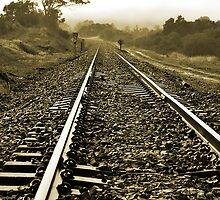 Towards the bend, by Steve  Woodman