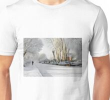 Boats on the Frozen Burton Canal Unisex T-Shirt
