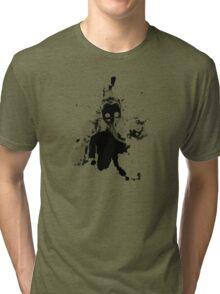 Gasmask - Black On Black Tri-blend T-Shirt