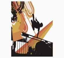 parkour silhouette  by myclock