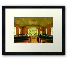 Little Church in the Woods Framed Print