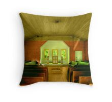 Little Church in the Woods Throw Pillow