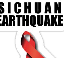 Sichuan Earthquake Relief Ribbon Sticker
