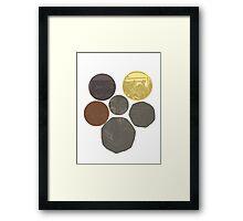 English Coins Shield Framed Print