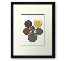 English Coins Shield Framed Print